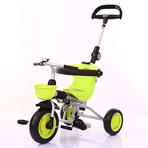 SHARESUN Kids driewieler voor 1-3 jaar oude jongens meisjes, vouwen kind Trike peuter driewielers balansfiets met voorzijde Basket & ouders stuur, 3 wiel fiets voor peuter
