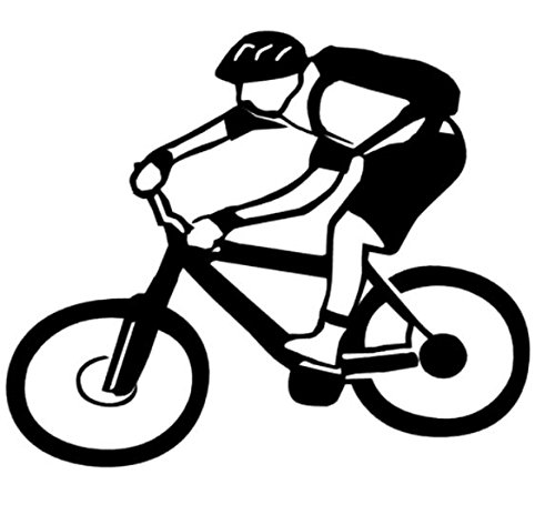 Mountainbiker Aufkleber Bike Radfahrer Aufkleber in Den Größen 20cm Oder 25cm (135/5) (20cm, Gelb Glanz)