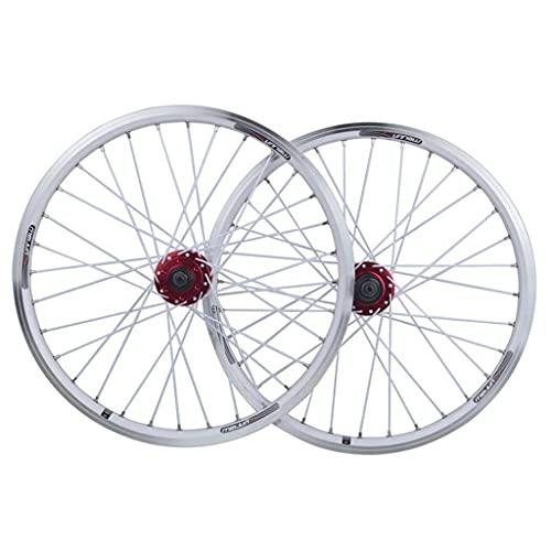 Juego de Ruedas de Bicicleta de 20 Pulgadas BMX 406 Disco de llanta/Freno en V Rueda de liberación rápida 32 radios 7/8/9/10 Cassette de Velocidad