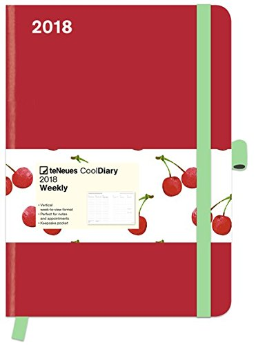 Cool Diary Red Cherry 2018 - Weekly Planner, Buchkalender, Taschenkalender, Wochenübersicht - 16 x 22 cm: Buchkalender A5 mit Wochenübersicht