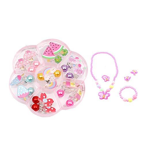 Ritte Kleine Prinzessin Schmuck Set, Kleine Mädchen Halskette Armband Ohrringe Set, Niedliche Schmuck-Kits Für Prinzessin Party Favors Geschenk, Kleine Prinzessin Dress Up