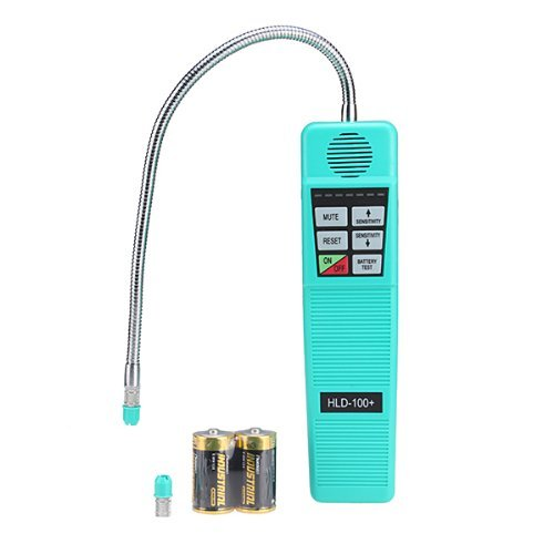 Portable AC Freon Halogen Refrigerant Gas Leakage Leak Detector Tester with High Sensitivity, HVAC Tool 7 Level Alarm Health and Safety Assistant, R410A R134A R134a R12 R22 R600a CFC HFC HVAC Tool