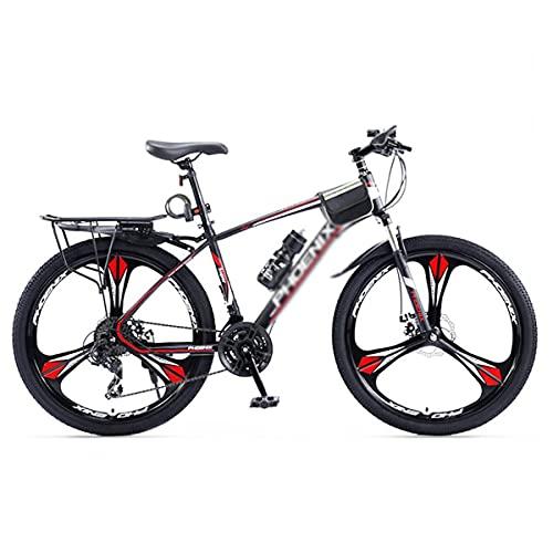 Bicicleta de montaña con amortiguación para niños, niñas, Hombres y Mujeres Ruedas de 27,5 Pulgadas Cambio de 24 velocidades con Frenos de Mano Dobles (tamaño: 27 velocidades, Color: Azul)