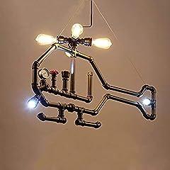 HIMA Industrial Pipe Chandelier Retro Metal Pendant Light for Bar,Club,Restaurant E27 #2