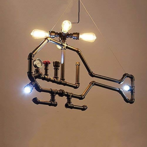 HIMA Industrial Pipe Chandelier Retro Metal Pendant Light for Bar,Club,Restaurant E27 steampunk buy now online