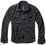 Brandit Vintage Shirt Longsleeve Chemise, Manches Longues Noires, 3XL Homme