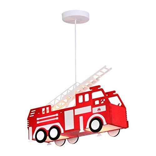 Feuerwehr Auto Hänge Leuchte rot Pendel Lampe Kinder Spiel Zimmer Beleuchtung Globo 15726