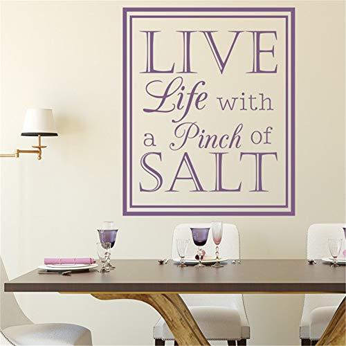 Aufkleber wandaufkleber kinderzimmer baum lebe das Leben mit einer Prise Salz für Esszimmer Wohnzimmer