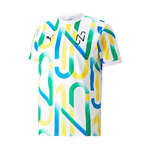 PUMA Neymar JR Copa Graphic Niño, Camiseta, White, Talla 128 [cm]