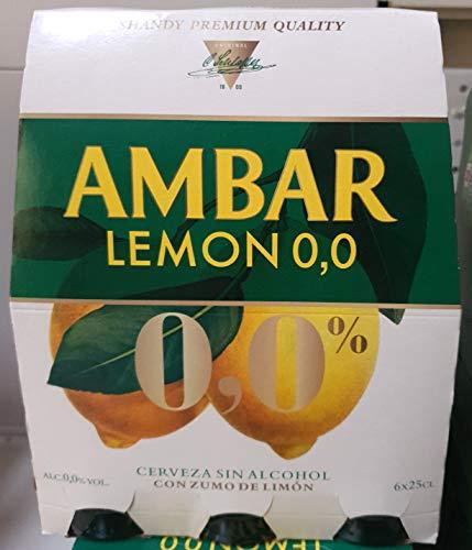 Cerveza Ambar 0.0 lemon 25 cl pack 6 botellines