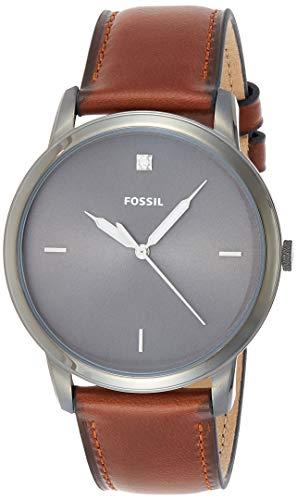 Fossil The Minimalist Carbon Series DREI Hand Bernstein Leder Herrenuhr FS5479