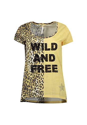 KEY LARGO Damen T-Shirt WD Free Round gelb (31) 42