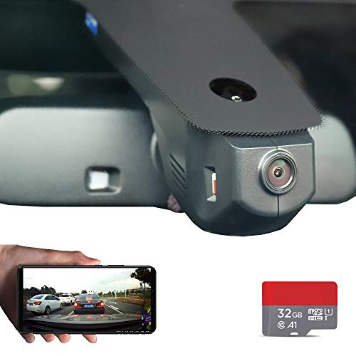 FITCAMX Dash Camera for Cars BMW 1 2 3 4 5 6 7 x1-6 series Hidden DVR Car Driving Recorder with Front Lens 1080P FHD 170 Wide-Angle Built-in WiFi Loop Recording G-sensor Night Vision APP(Android, IOS)