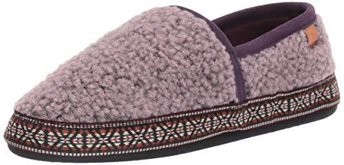 Acorn Women's Woven Trim Moc Slipper, Iris, Large