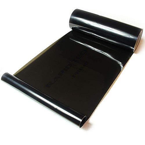Rapid Teck® 16,67€/m² Scheinwerfer-Tönungsfolie Schwarz 3 m x 30 cm Autofolie Scheinwerfer Rückleuchten tönen