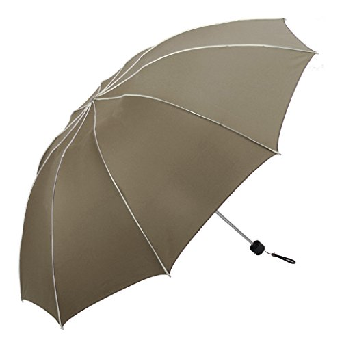Paraguas creativo Sunny Umbrella plegable hombres de negocios tres pliegues paraguas fuerte repelente al agua anti-UV b