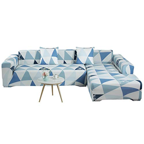 GHKT Tapa de sofá de Tela Spandex Four Seasons Universal Funda Completa Sofá Modular Cubierta de Polvo Impresa Universal Elástico Funda Completa Sofá Cubierta para la mayoría de los Tipos de sofás