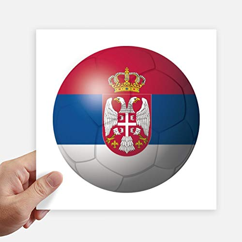 DIYthinker Servië Nationale Vlag Voetbal Vierkant Stickers 20Cm Wandkoffer Laptop Motobike Decal 4 Stks