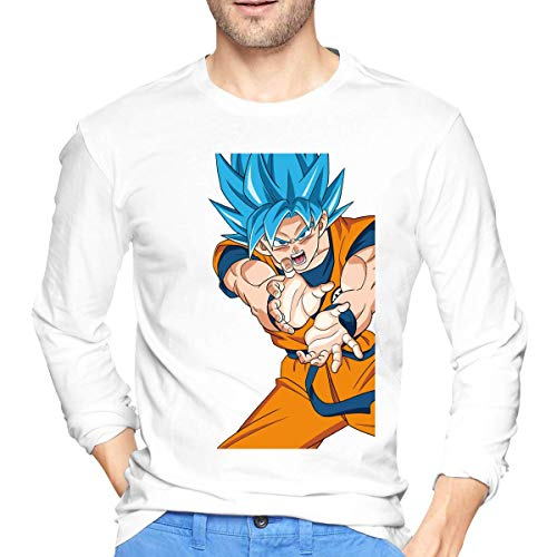 Men's Son Goku Dragon Ball Logo Long Sleeve Shirts Fashion tee Shirt Black Camisetas y Tops(Medium)
