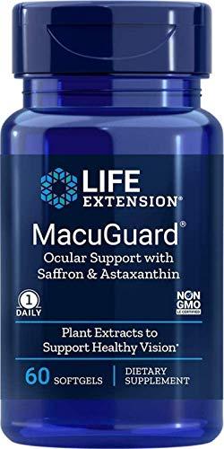 Life Extension MacuGuard Ocular Support with Saffron & Astaxanthin, 60...