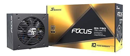 Seasonic FOCUS GX-750 Alimentation entièrement modulaire pour ordinateur 80PLUS Gold 750 Watt