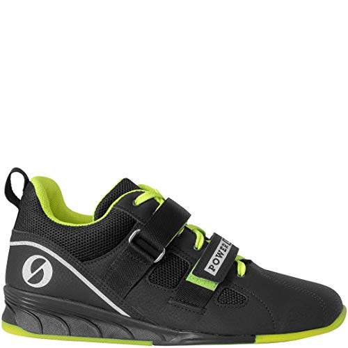 Sabo Powerlift Weightlifting Shoes - Black/Lime