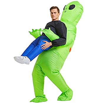 YEAHBEER Inflatable Alien Rider Costume Halloween Costume for Adults Inflatable Costumes Cosplay Party Dress Up Mens  and Womens Halloween Costum