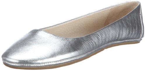 flip*flop Damen Easy Going Lea Ballerinas, Silver, 36 EU