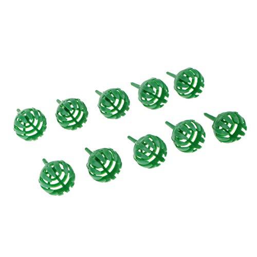 Blesiya 10 X Panier à Engrais S/L pour Pot Osmocote à Plante De Fleur De Bonsaï Orchidée - Vert S