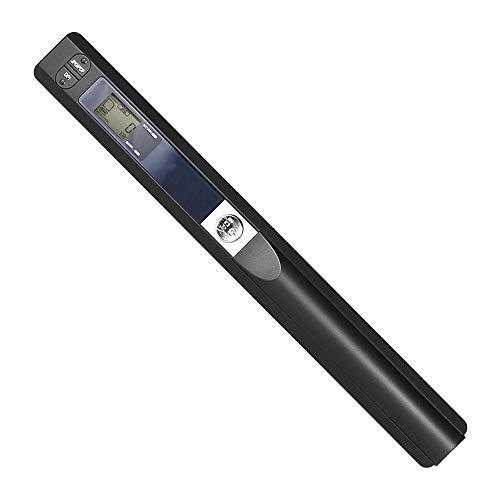 File Scanner portatile palmare wireless Immagine Scanner Reader 900DPI JPG/PDF Monitor LCD Biglietto Ricezione Libri ufficio/magazzino/Supermarket/Library,Nero