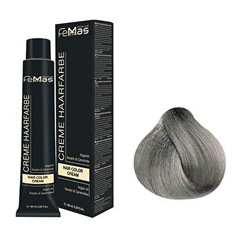 Femmas Hair Color Cream 100ml Haarfarbe (Hell Lichtblond Asch Intensiv 10.11)
