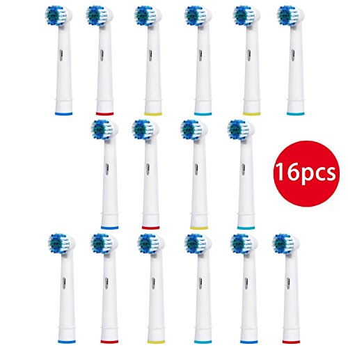 FIRIK Aufsteckbürsten kompatibel mit Oral-B Zahnbürsten, Ersatz Zahnbürsten Aufsätze 16 Stück, passend für Vitaly, Genius, Triumph, Professional …