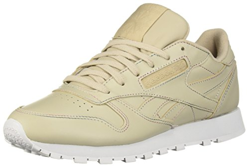 Reebok Women's Classic Leather Walking Shoe, Space dye-Parchment/Spirit, 6 M US