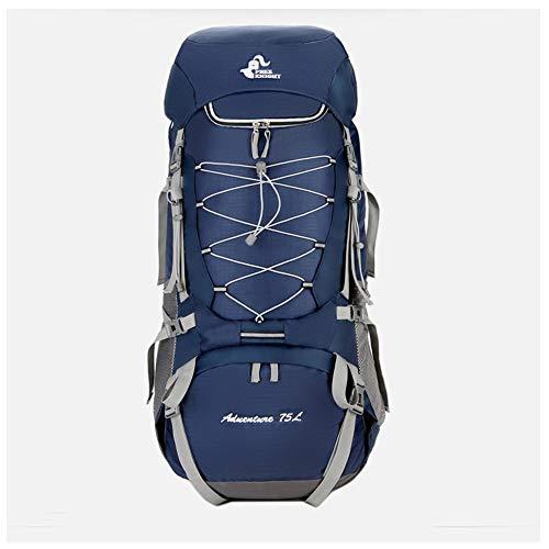 BAO-F Trekking Rucksack 75L - Backpacker-Rucksack Outdoor-Rucksack Wanderrucksack wasserabweisend mit RegenhülleBlue