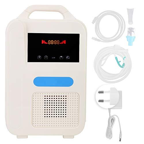 Qinlorgo Generador de oxígeno portátil, 1 L/min generador de oxígeno de atomización de Iones Negativos para el hogar y los Viajes generador de oxígeno portátil