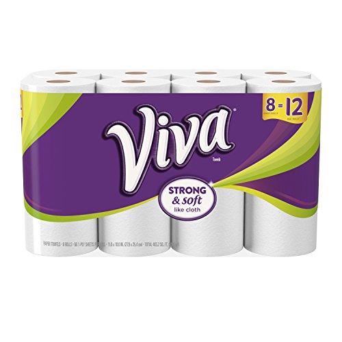 Viva 10036000114178 Giant Roll Paper Towel, White, 27.9*25.4 cm, 8 Rolls
