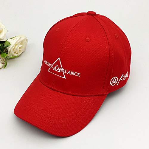 Yang Mi el Mismo Sombrero Rojo Femenino Letras de Marea de Verano Caperucita Roja Gorra de béisbol Moda Gorra de sombrilla Salvaje versión Coreana