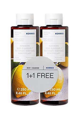 Korres Basil Lemon 1+1 Duschgel Set