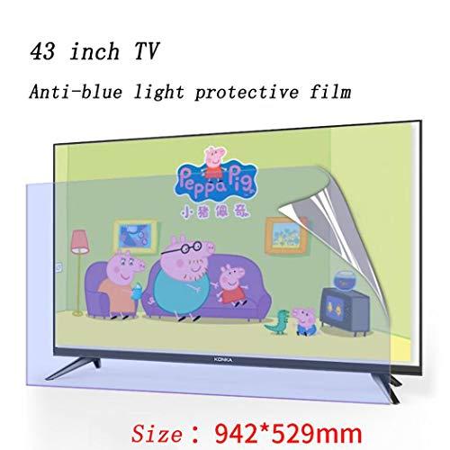 Protector de Pantalla de TV de 43 Pulgadas Filtro Anti luz Azul, Alivie la Fatiga Visual, Película Protectora de Monitor de computadora de Escritorio para HDTV LCD, LED, OLED y QLED