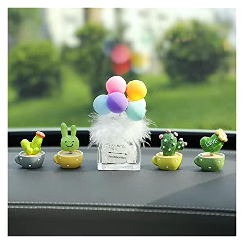 ooege OOE Moving Head Cactus Decoraciones del Coche Decoraciones del Coche Accesorios para automóviles Interior (Color Name : A Can Add Perfume)