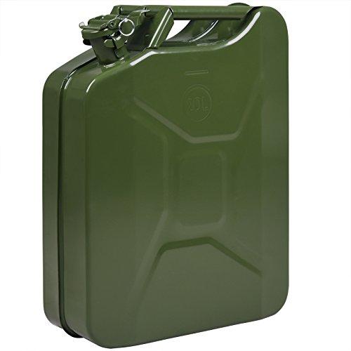 Monzana Benzinkanister 20L Metall UN-Zulassung Diesel Kraftstoffkanister Kanister Metallkanister Reservekanister