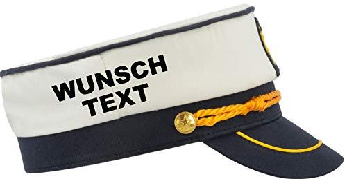 Shirtinstyle Boots Kapitän Mütze mit Wunschname individuell Seemann Junggesellenabschied Boots Hut Angeln JGA Verkleidung