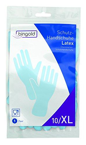 bingold 512104 Latex Gants de protection Bleu