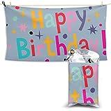 XCNGG Toallas de baño de Secado rápido Toallas de baño para el hogar Toallas Quick Dry Bath Towel, Absorbent Soft Beach Towels, Happy Birthday for Camping, Backpacking, Gym, Travelling, Swimming,Yoga
