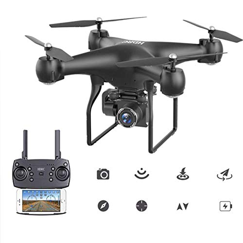 Drone with Camera 4K HD Foldable GPS Compact RC Quadcopter Auto Return Home, Follow Me, Flight Time, Long Control Range for Beginners and Professionals,Black
