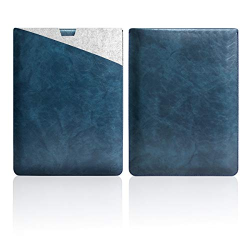 Funda protectora de piel suave y elegante Walnew con interior seguro y alfombrilla de ratón exterior para MacBook Air de 11 pulgadas B-Dark Blue MacBook Pro 13-inch Released in 2016/2017