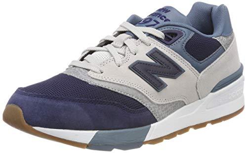 New Balance 597, Zapatillas de Running Hombre, Multicolor (Pigment/Nimbus Cloud/Light Petrol Ngt), 42.5 EU