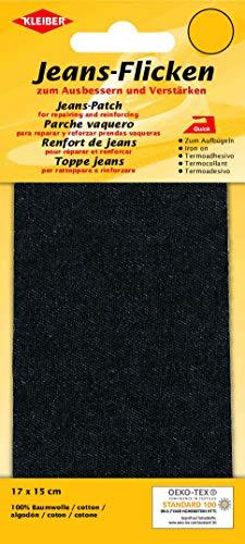 Jeans-Bügelflicken schwarz