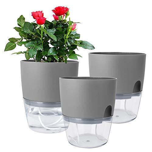 Vanavazon 自动浇水花盆,3 件装