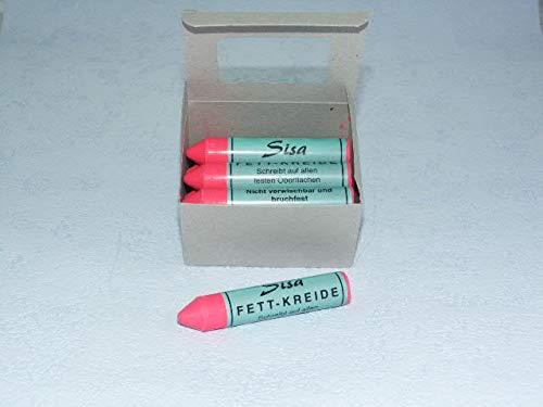 SISA Fett-Signierkreide pink 12 Stück, Reifenkreide, Fettkreide 260205